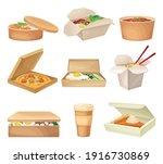 kraft paper or cardboard eco... | Shutterstock .eps vector #1916730869