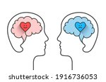 human head and brain silhouette ...   Shutterstock .eps vector #1916736053
