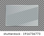 glass plate. realistic glass... | Shutterstock .eps vector #1916736773