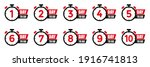 set days icons to go last... | Shutterstock .eps vector #1916741813
