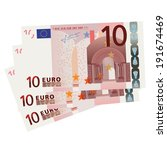 vector drawing of a 3x 10 euro... | Shutterstock .eps vector #191674469