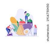 diet plan illustration. people... | Shutterstock .eps vector #1916750450