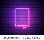 notebook neon icon. simple thin ...