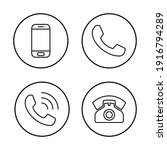 phone icon set. call icon... | Shutterstock .eps vector #1916794289