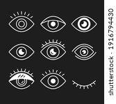eye icons set. white eye...   Shutterstock .eps vector #1916794430