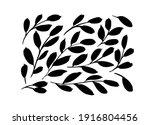 black paint brush leaves vector ... | Shutterstock .eps vector #1916804456
