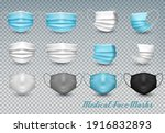collection of a blue and white...   Shutterstock .eps vector #1916832893