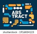 abstract banner lego art poster ... | Shutterstock .eps vector #1916834123