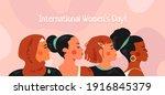 international women's day on 8... | Shutterstock .eps vector #1916845379