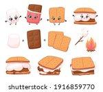 scheme of smore sweet children...   Shutterstock .eps vector #1916859770