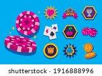 bundle of slots casino set... | Shutterstock .eps vector #1916888996