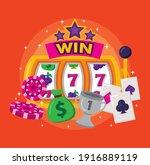 bundle of slots casino set... | Shutterstock .eps vector #1916889119