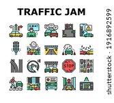 traffic jam transport... | Shutterstock .eps vector #1916892599