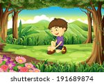 illustration of a smiling young ... | Shutterstock . vector #191689874