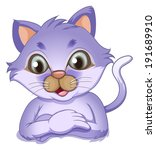 illustration of a cute cat on a ... | Shutterstock . vector #191689910