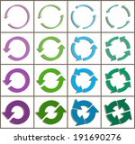 sixteen rotate arrow icon sign. ... | Shutterstock .eps vector #191690276