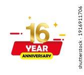 16 anniversary celebration....   Shutterstock .eps vector #1916911706