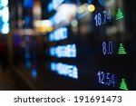 display of stock market quotes  | Shutterstock . vector #191691473