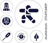 6 Filled Editable Icons Set For ...