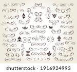 set of floral decorative... | Shutterstock .eps vector #1916924993