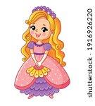 princess in a beautiful dress... | Shutterstock .eps vector #1916926220