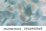 abstract wavy white background. ...   Shutterstock . vector #1916943569