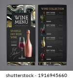 wine menu design with alcohol... | Shutterstock .eps vector #1916945660