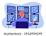 Broker Working On Stock Market...