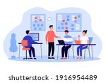 team of programmers developing...   Shutterstock .eps vector #1916954489
