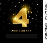 4th anniversary celebration... | Shutterstock .eps vector #1916955089