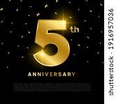 5th anniversary celebration... | Shutterstock .eps vector #1916957036