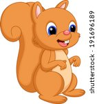 cute squirrel cartoon   Shutterstock .eps vector #191696189