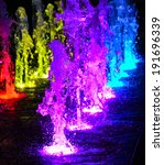 Fountain With Colorful...