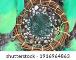 Green Dreamcatcher With Natural ...