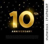 10th anniversary celebration... | Shutterstock .eps vector #1916966369