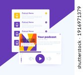 podcast player with playlist ...