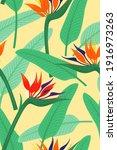 seamless pattern wallpaper of... | Shutterstock .eps vector #1916973263