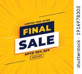 final sale yellow banner with... | Shutterstock .eps vector #1916978303
