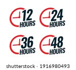 various time stickers with time ... | Shutterstock .eps vector #1916980493