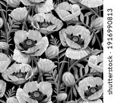 seamless pattern with gray... | Shutterstock .eps vector #1916990813