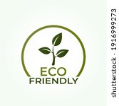 eco friendly icon. natural and... | Shutterstock .eps vector #1916999273