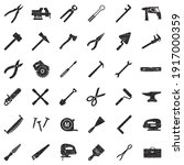 tools icons. black scribble...   Shutterstock .eps vector #1917000359