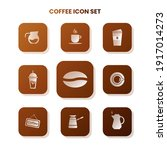 nine coffee icons in one set...