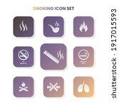 nine smoking icons in one set...