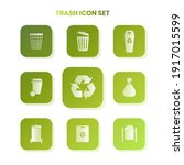 nine trash icons in one set...