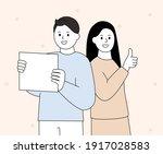 men and women delivering... | Shutterstock .eps vector #1917028583