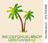 Vector Palm Tree With Font By...
