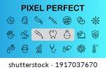 coronavirus a set of icons on... | Shutterstock .eps vector #1917037670
