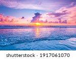 Sunset Over Sea On Bali ...