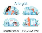 allergist concept set. disease...   Shutterstock .eps vector #1917065690